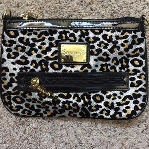 Metallic cheetah print purse